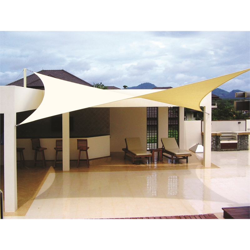 Coolaroo premier 3 0 x square beige shade sail i n for Shade sail cost