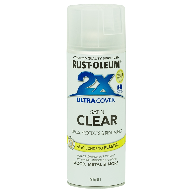 Rust-Oleum 298g Satin Clear 2X Ultra Cover Spray Paint