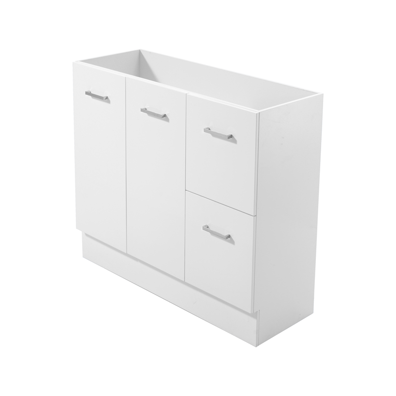Mondella 1200mm White Cadenza Bathroom Vanity - Cabinet Only
