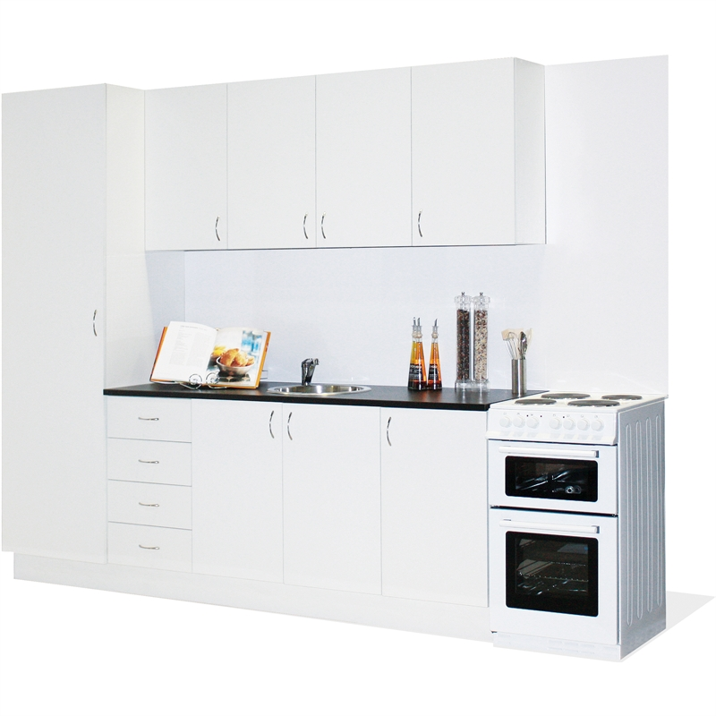 Marquee straight line modular kitchen bunnings warehouse for Kitchen cabinets bunnings