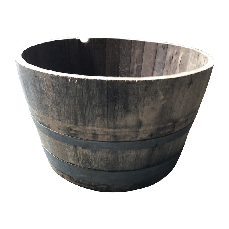 12 Oak Wine Barrel Timber Planter Bunnings Warehouse