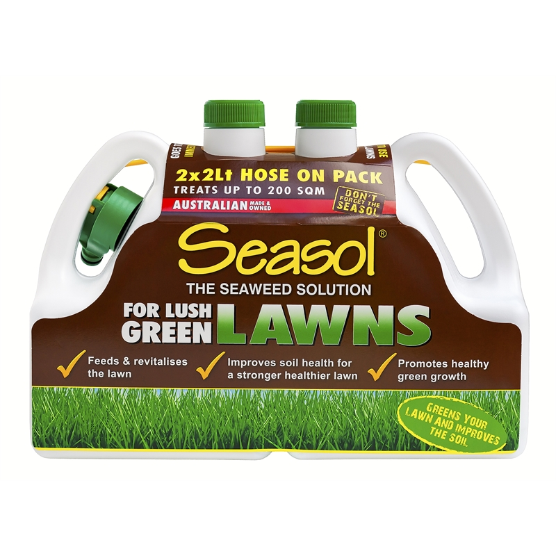 Seasol 2 x 2L Ready To Use Lawn Fertiliser - Twin Pack
