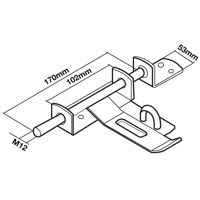 Richmond Heavy Duty Gate Latch