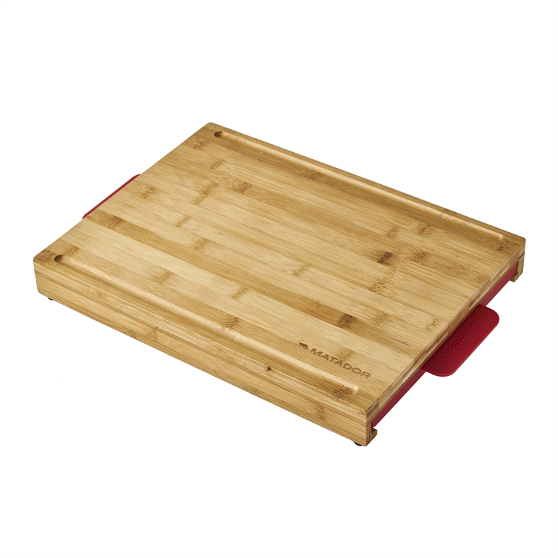 Bamboo Chopping Board with Slide Out Trays