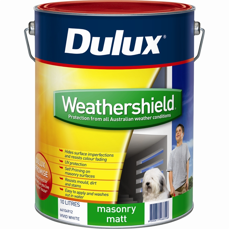 Dulux weathershield 15l matt white exterior paint bunnings warehouse - Exterior wood paint matt pict ...