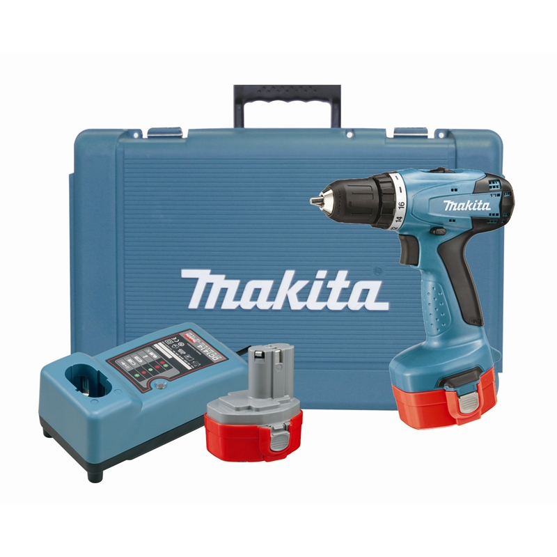 makita 14 4v ni cd cordless drill driver with 2 batteries. Black Bedroom Furniture Sets. Home Design Ideas