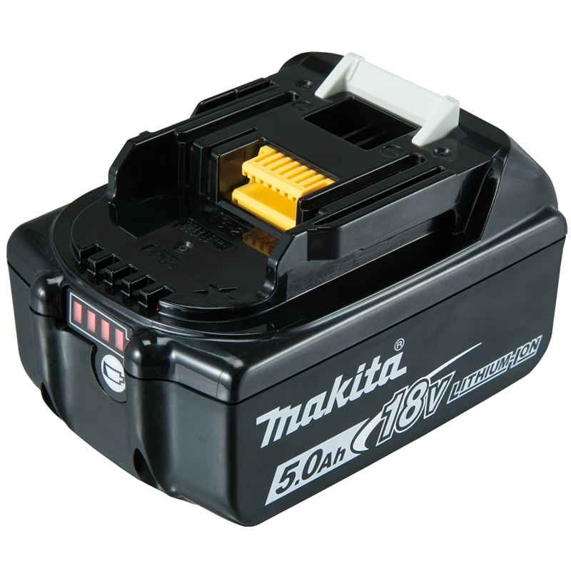 makita 18v 5 0ah lithium ion battery with gauge bunnings warehouse. Black Bedroom Furniture Sets. Home Design Ideas