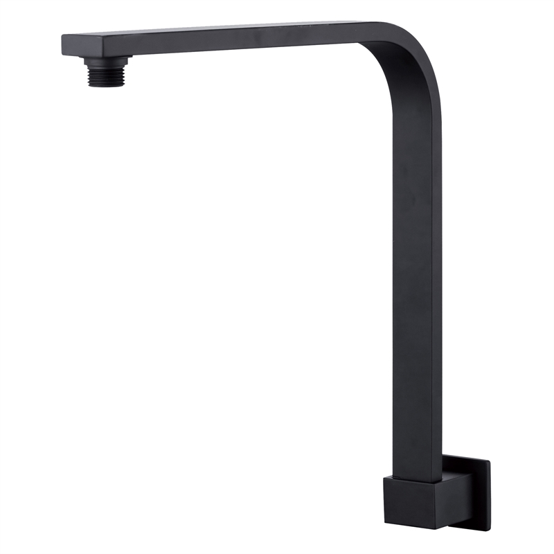Rococo 300mm Black Curved Wall Shower Arm