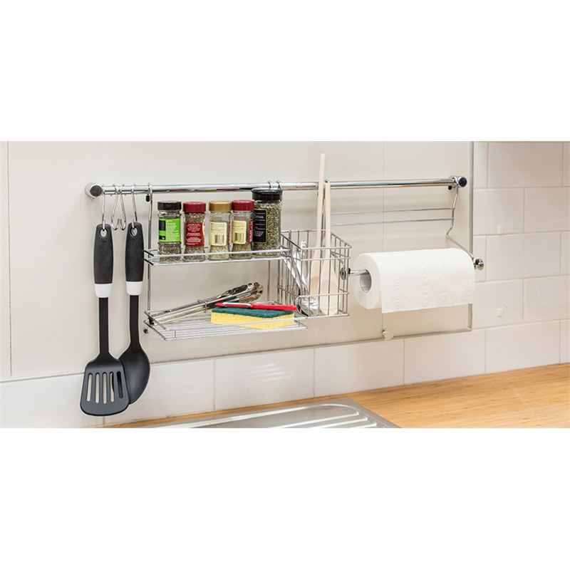 Restored 770mm Chrome Kitchen Tidy Set Bunnings Warehouse
