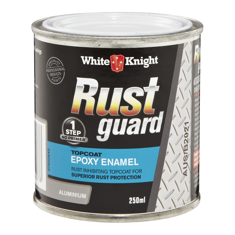 White Knight Rustguard 250ml Aluminium Epoxy Enamel Paint