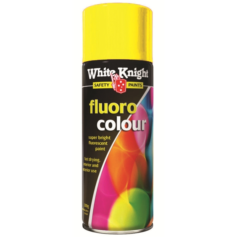 White Knight 300g Fluoro Yellow Spray Paint Bunnings Warehouse