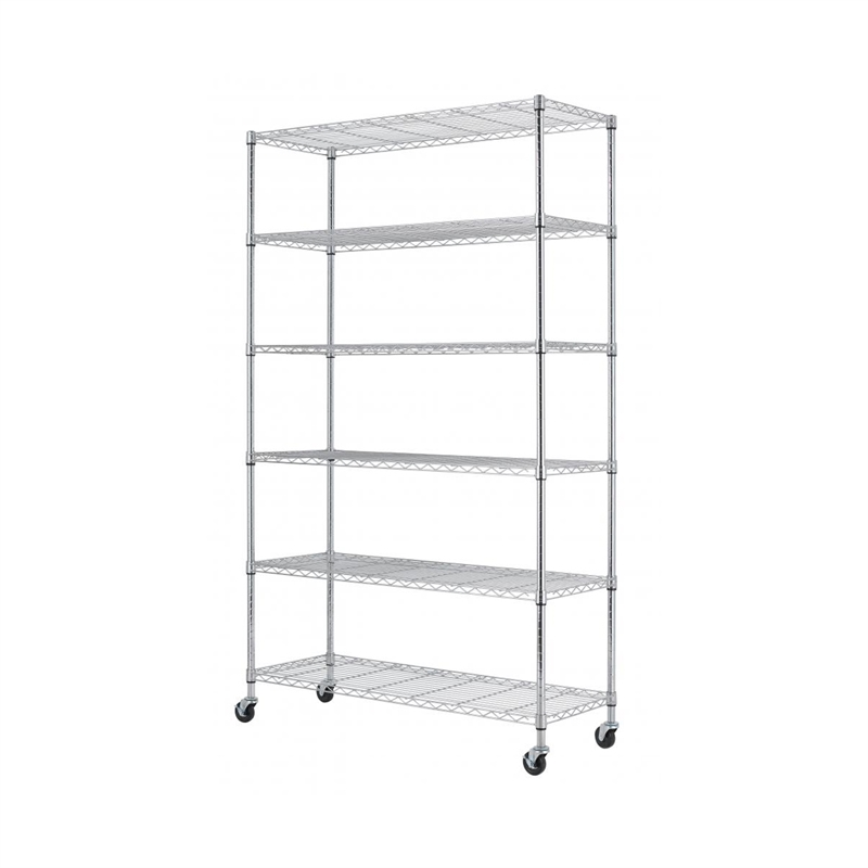 Montgomery 6 Tier Metal Shelving Unit With Wheels