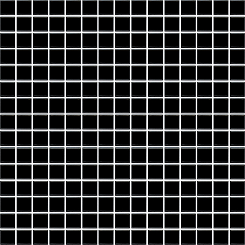 cotto tiles 19 x 19mm gloss black mosaic tile sheet bunnings warehouse - Mosaic Tiles