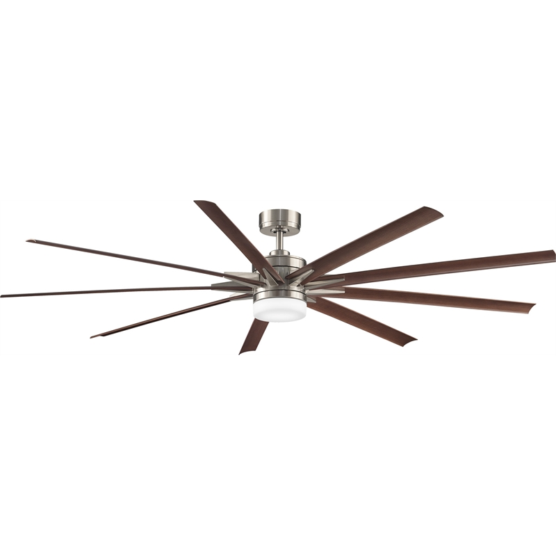 Fanimation 84 inch odyn walnut brushed nickel ceiling fan mozeypictures Images
