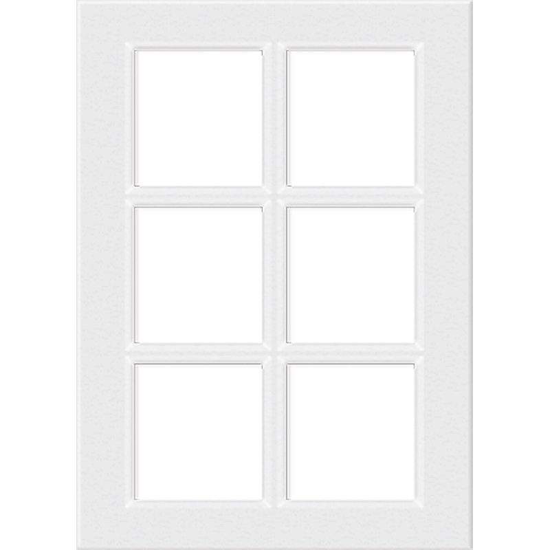 400mm 6 panel glass cabinet door gloss white bunnings warehouse