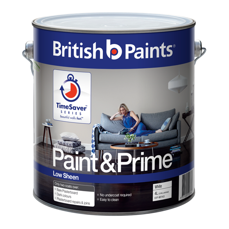 British Paints 10l White Interior Low Sheen Paint Prime