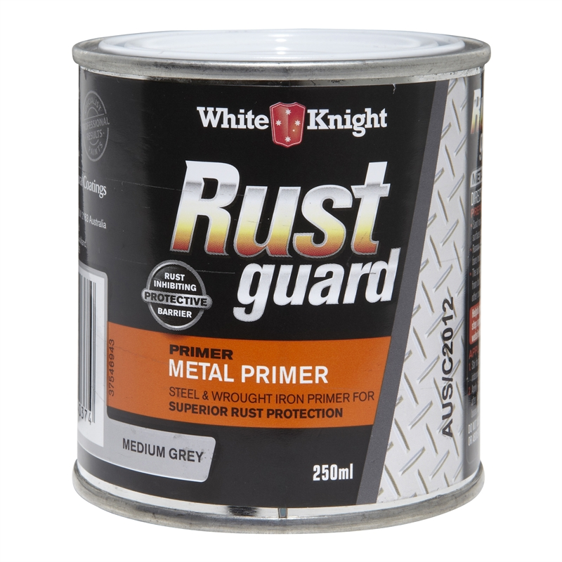 White Knight Rust Guard 250ml Medium Grey Metal Primer