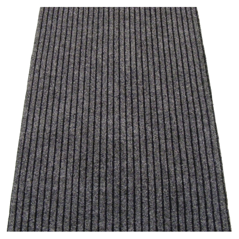 Ideal Diy Grey Dallas Wide Ribbed Carpet Runner Lineal