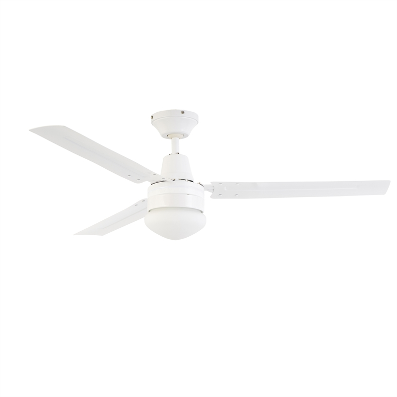 Arlec 120cm 3 blade ceiling fan with oyster light csf120ao aloadofball Gallery