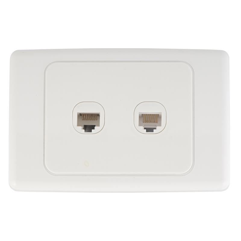 Outstanding Deta Cat 6 Double Ethernet Rj45 Outlet Bunnings Warehouse Wiring Cloud Hisonuggs Outletorg