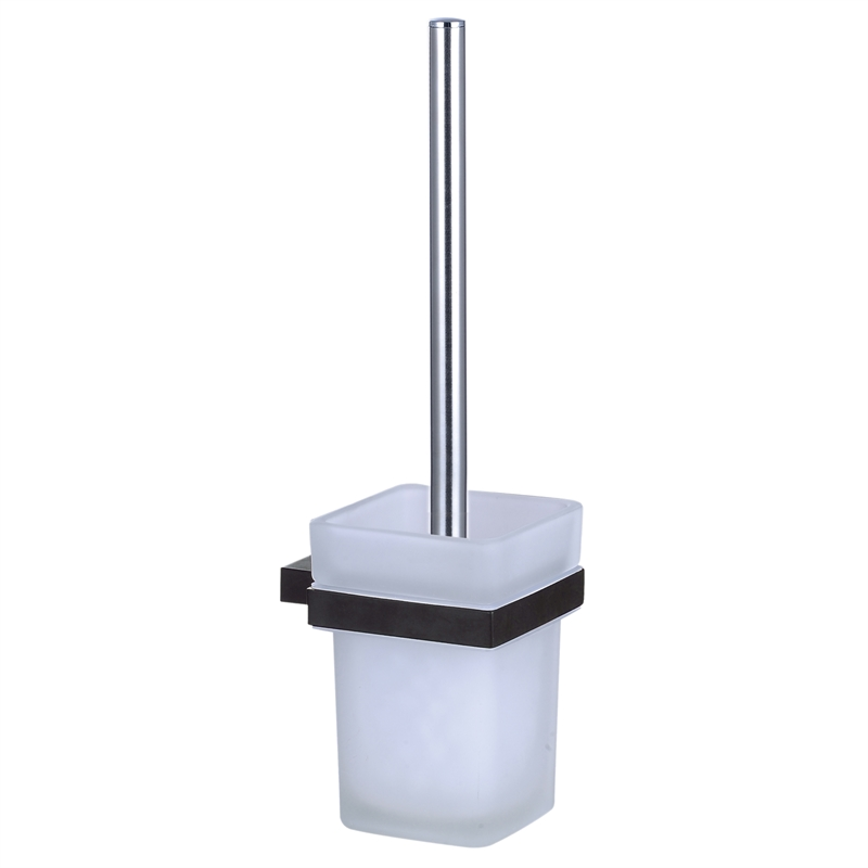 Rumba Matte Black Toilet Brush And Holder