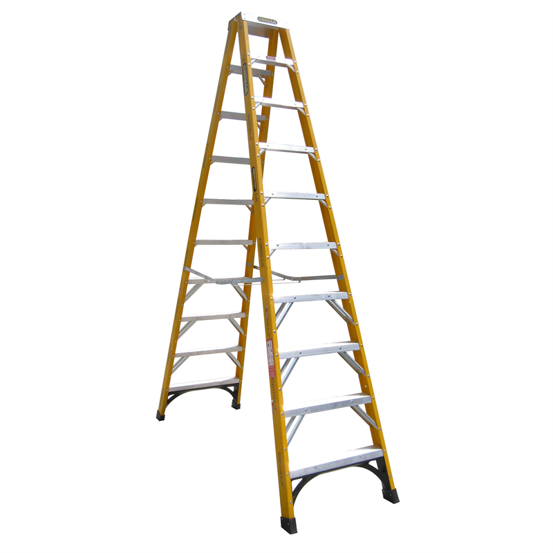 Gorilla 30m 150kg Double Sided Fibreglass Step Ladder Bunnings