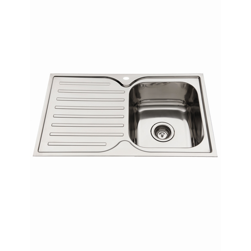 Everhard 780mm Squareline Single Bowl Kitchen Sink With Drainer
