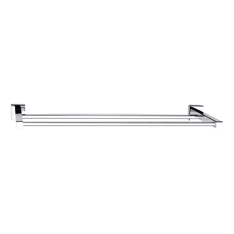 Rococo 600mm Chrome Double Towel Rail