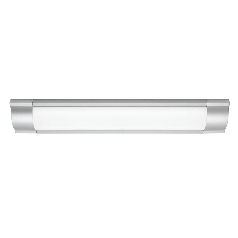 Bathroom Vanity Lights Bunnings mercator cannes 2 x 28w silver fluorescent light | bunnings warehouse