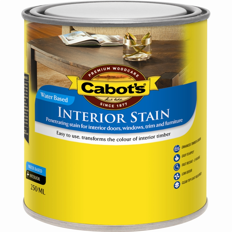 Cabot 39 S 250ml Walnut Water Based Interior Stain Bunnings Warehouse