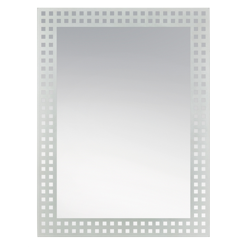 Award 900 x 600mm patterned mirror panel i n 1730110 for Mirror 900 x 600