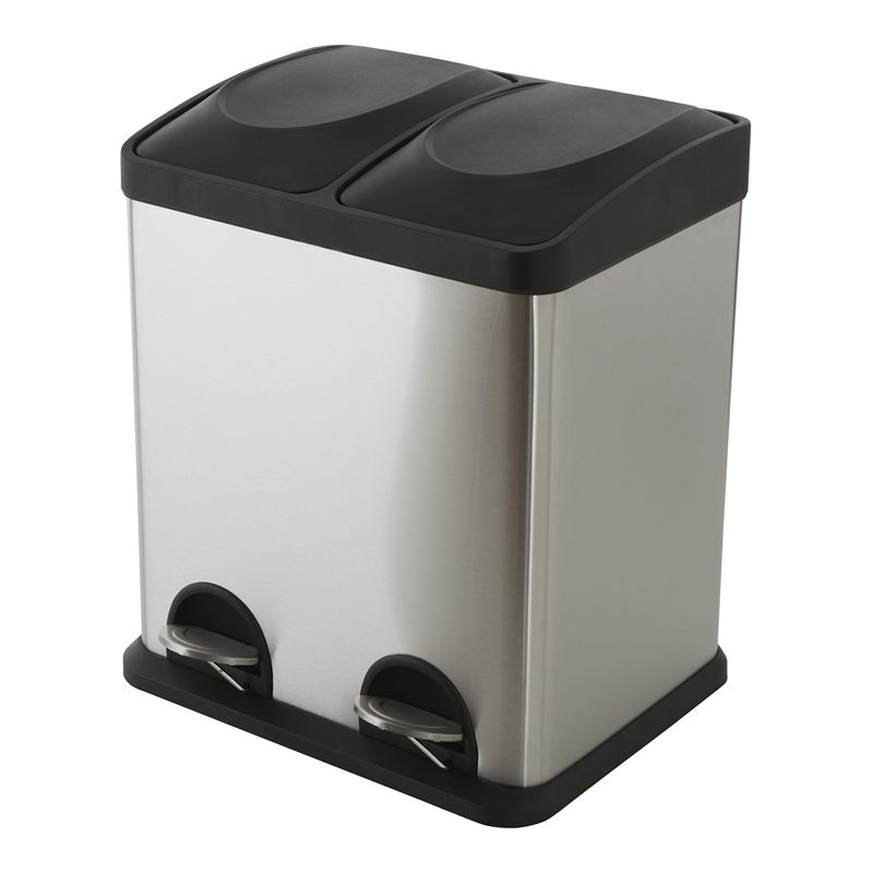 Morgan Stainless Steel Twin Compartment Pedal Bin