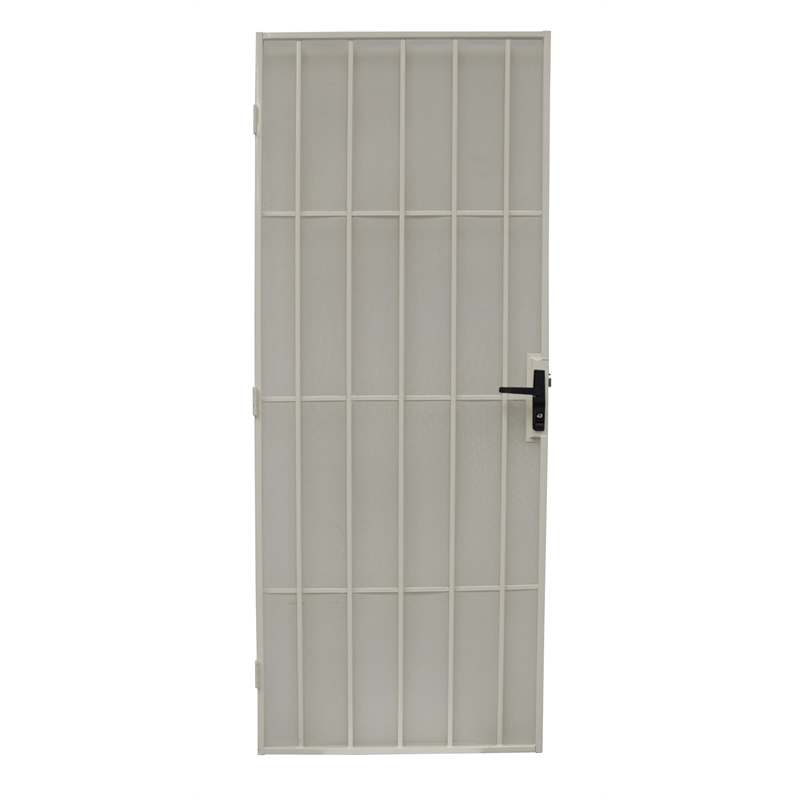 Bastion 2024 x 806mm gloss white classic imperial steel frame security screen door - White security screen door ...