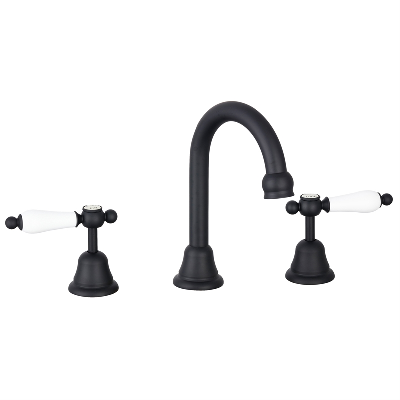 Maestro WELS 4 Star 7.5L/min Black Lever Handle Basin Set
