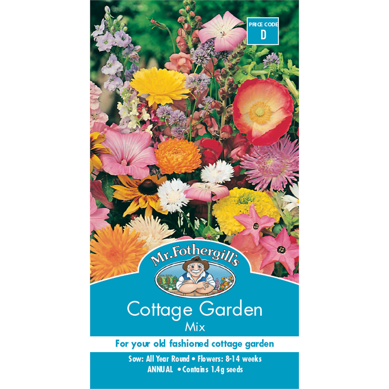 Mr Fothergill S Cottage Garden Mix Flower Seed Bunnings