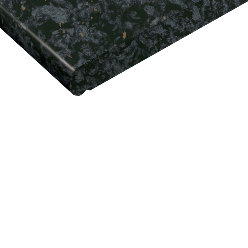 Kaboodle 2400 x 600 x 38mm Black Granite Benchtop