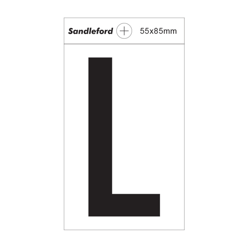 Sandleford 85 x 55mm l white self adhesive letter for Self adhesive letters white