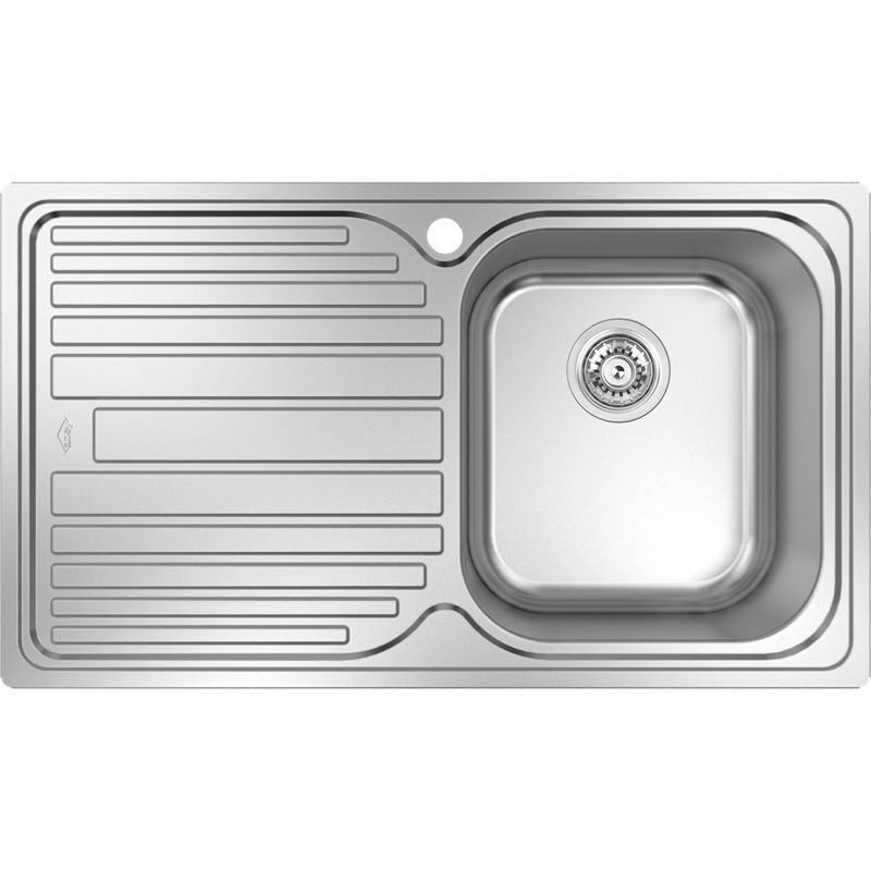 Abey Australia 860mm Deluxe Stainless Steel Single Sink Bowl And ...