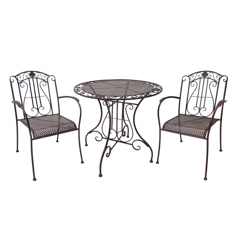 marquee 3 piece rustic metal bistro set bunnings warehouse. Black Bedroom Furniture Sets. Home Design Ideas