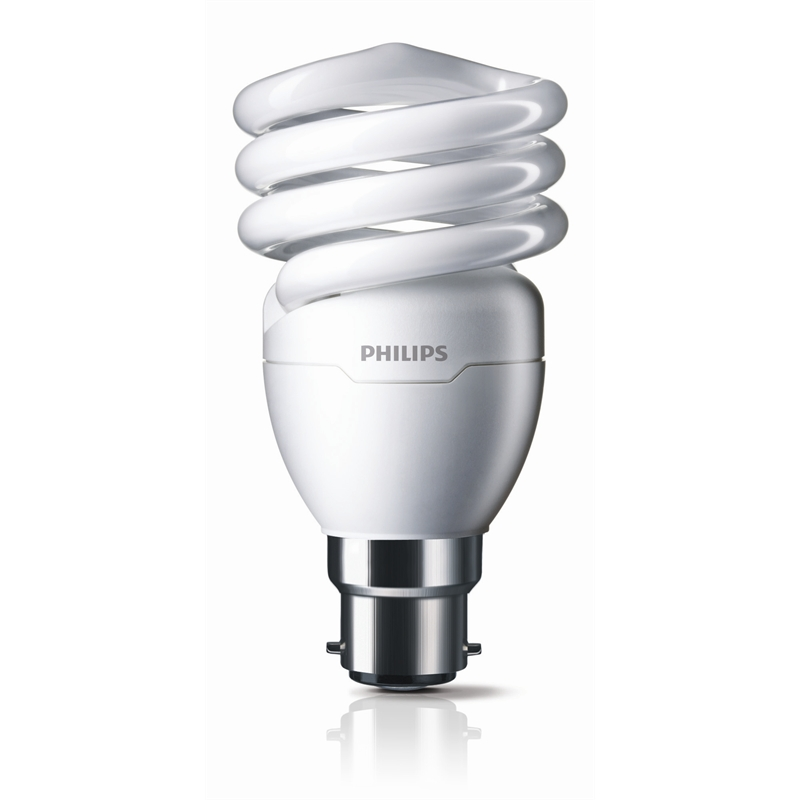 Philips 15W Cool White BC Tornado Spiral Globe CFL | Bunnings ...