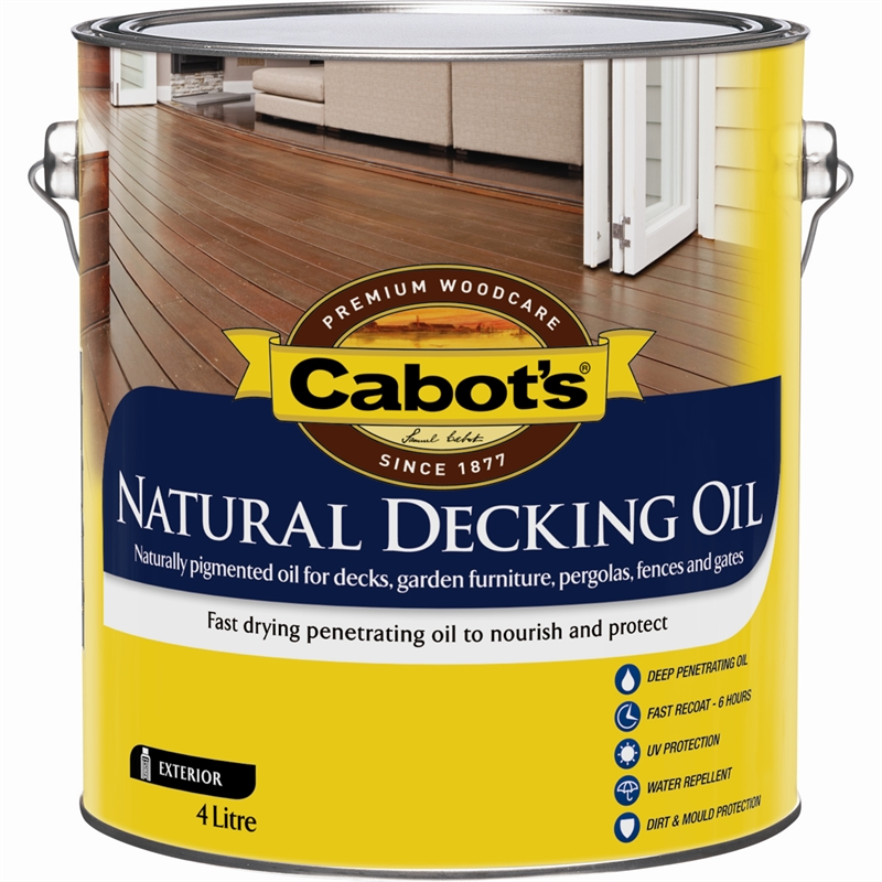 Cabot 39 s 4l natural decking oil bunnings warehouse Compare composite decking brands