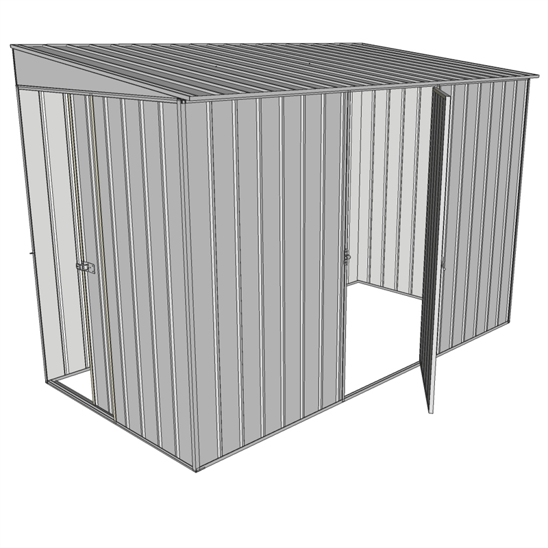Garden Sheds 6x7: Build-a-Shed 1.5 X 2.3 X 2m Sliding Door Tunnel Shed With