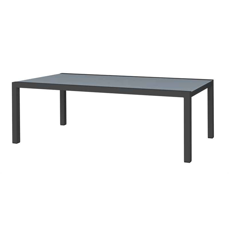 220 x 100cm Aluminium Lava Dining Table