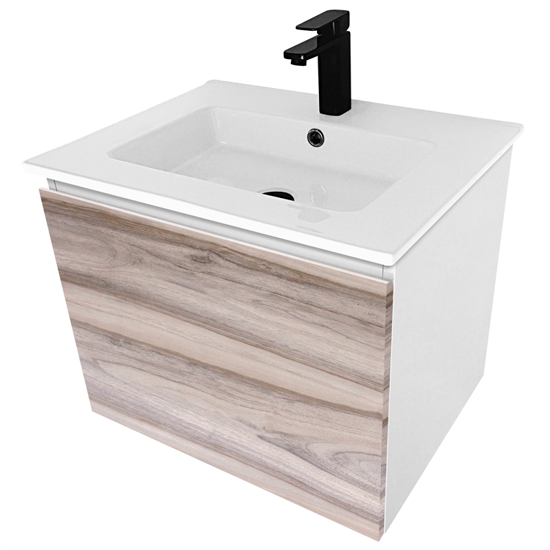 Bathroom Vanity Lights Bunnings cibo design 600mm cafe oak revive vanity | bunnings warehouse
