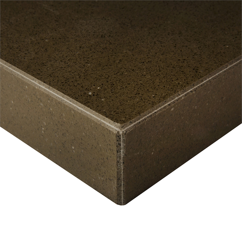 Essential Stone 40mm Chardonnay Square Savvy Benchtop: Essential Stone 40mm Sq Chocolate Mousse Savvy Benchtop