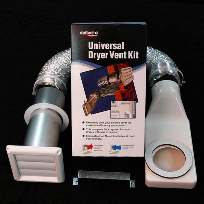 Deflecto Universal Clothes Dryer Wall Exhaust Vent Kit Ebay