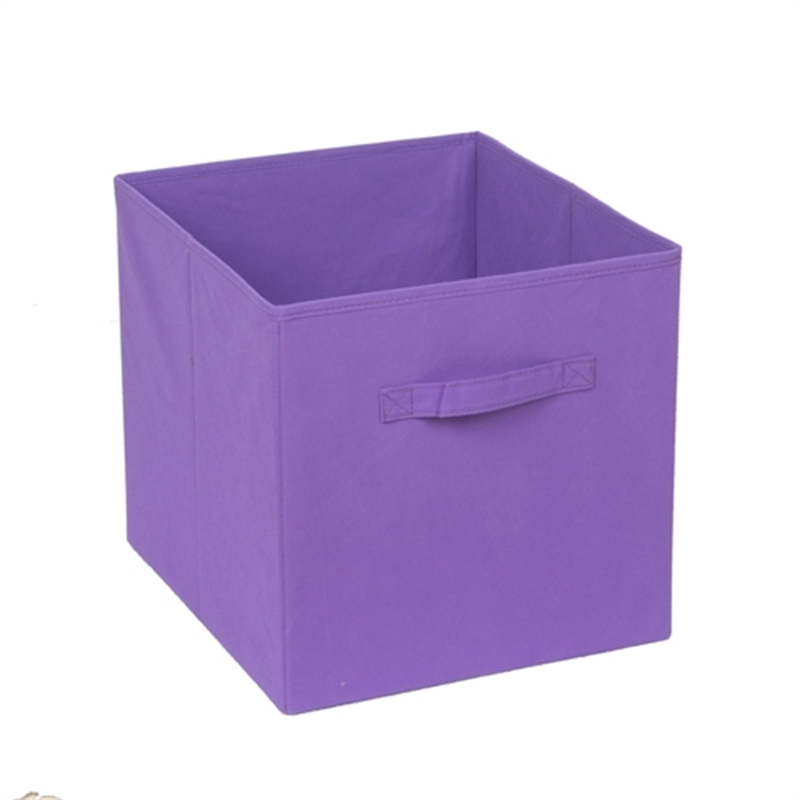 Strorage 330 x 330 x 370mm clever cube purple fabric storage drawer