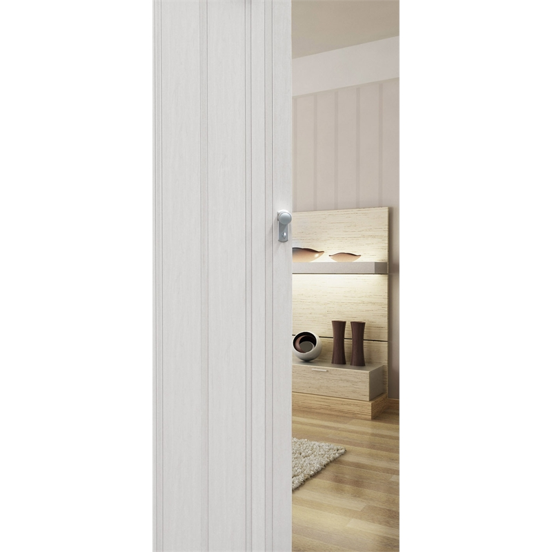 Pillar Products 85 x 203cm White Oak San Marino PVC Concertina Door