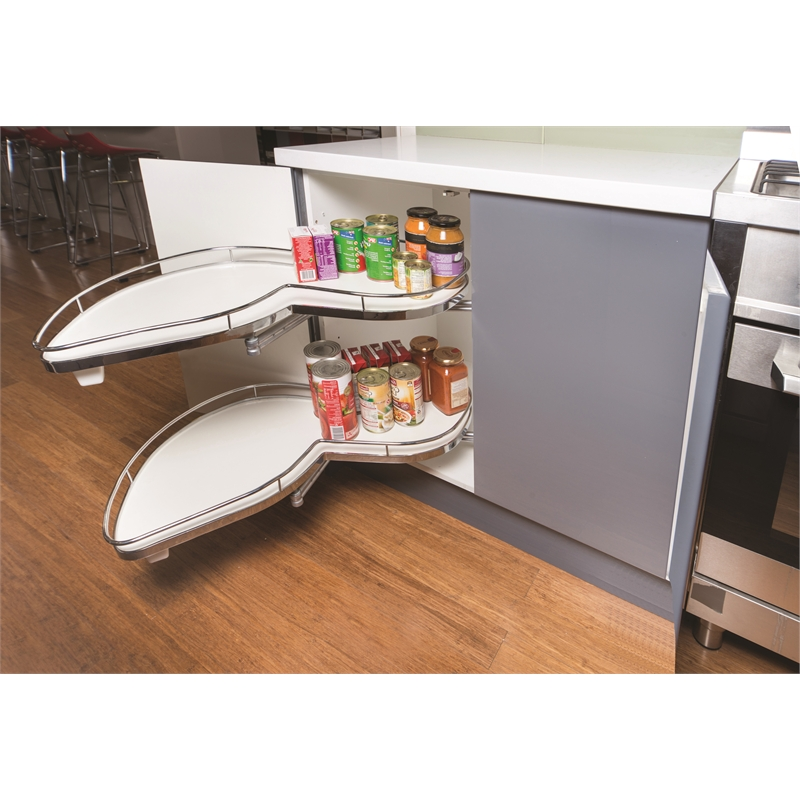 Zone Hardward 900mm Kitchen Cabinet Left Swivel Shelf Bunnings Warehouse