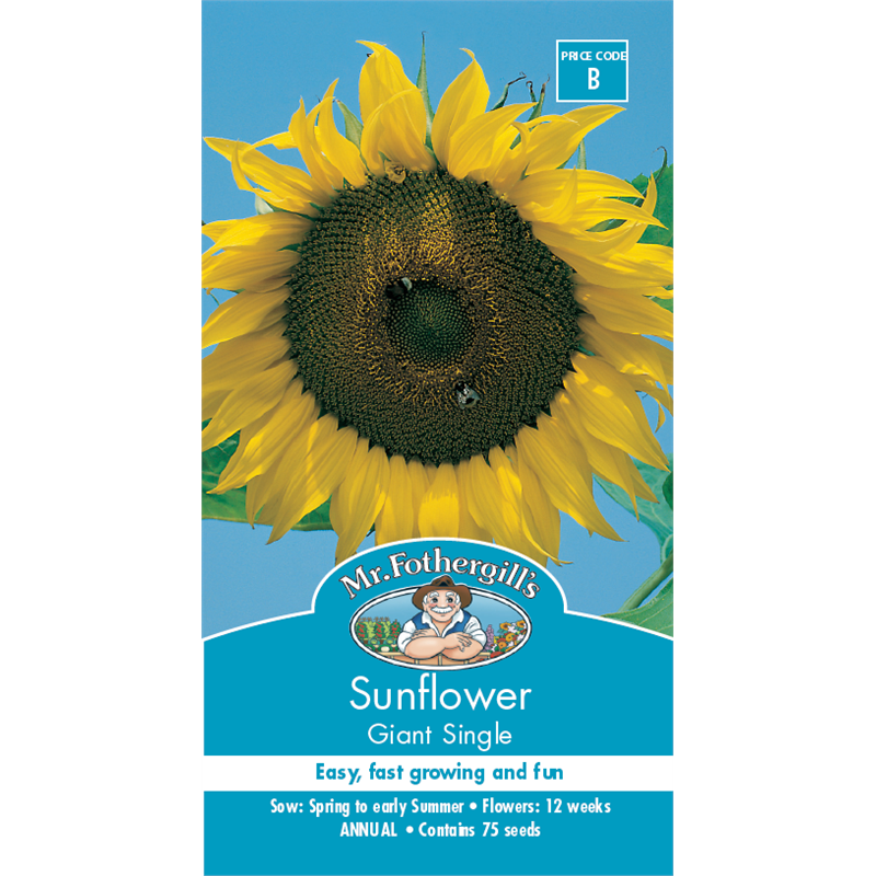 Mr Fothergill's Sunflower Giant Single Flower Seeds I/N ...
